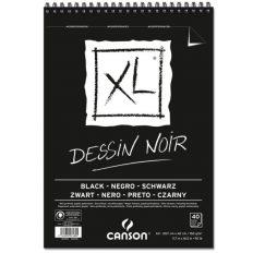 Bloco Desenho Canson XL Dessin Noir A3 150gr   40fls