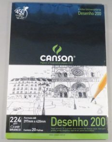 Bloco Desenho Canson Universitário Dessin A3 200gr – 20fls