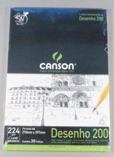 Bloco Desenho Canson Universitário Dessin A4 200gr – 20fls