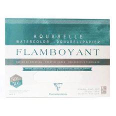Bloco Aquarela Flamboyant Clairefontaine A4+300gr R 50% 20fl