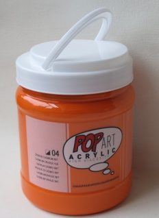 Tinta Acrílica Pébéo Pop Art Cadmium Orange #04 – 700ml
